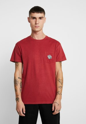 JORHAVEN TEE CREW NECK - T-shirt print - brick red