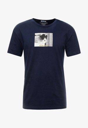 JORGILBERT ANIMAL TEE CREW NECK - Printtipaita - navy blazer