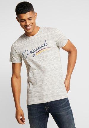 JORFRANCO TEE CREW NECK - T-shirt med print - light grey melange