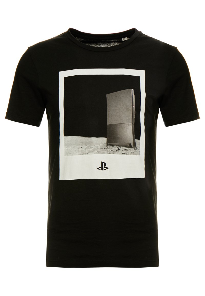 Jack & Jones - JCOSEGA PLAYSTATION TEE CREW NECK - T-shirt med print - black