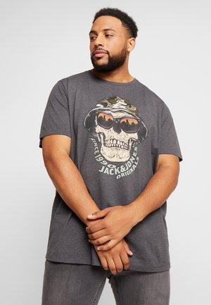 JORCONA TEE CREW NECK - T-shirt z nadrukiem - dark grey melange