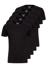 Jack & Jones - JORBASIC CREW NECK 5 PACK  - T-shirt - bas - black - 0