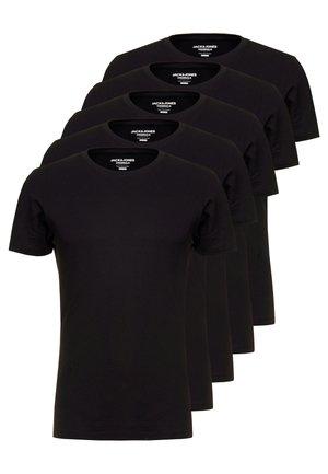 JORBASIC CREW NECK 5 PACK  - T-shirt - bas - black