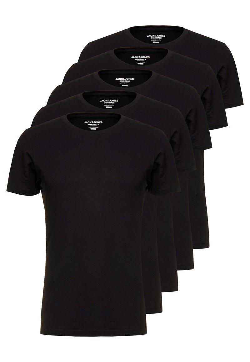 Jack & Jones - JORBASIC CREW NECK 5 PACK  - T-shirts - black