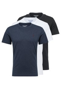 Jack & Jones - JORBASIC TEE CREW NECK 3-PACK  - Jednoduché triko - white packed with tem - 0