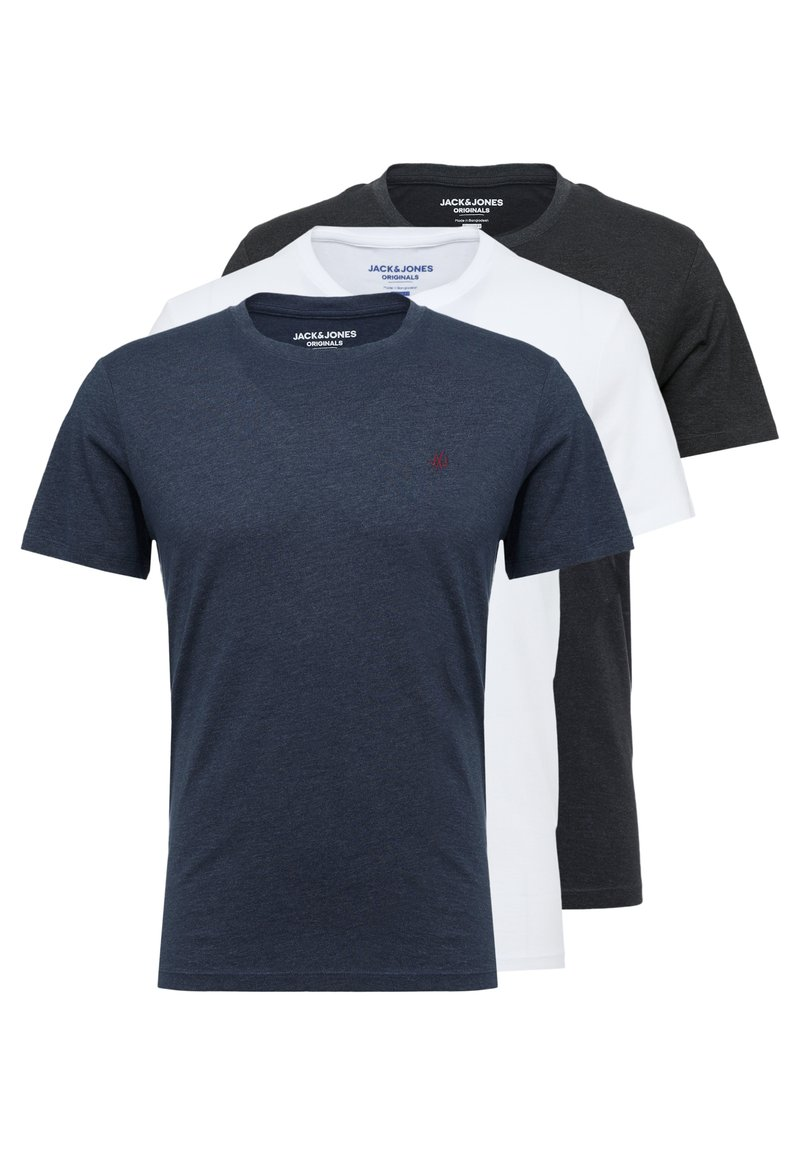 Jack & Jones - JORBASIC TEE CREW NECK 3-PACK  - Jednoduché triko - white packed with tem