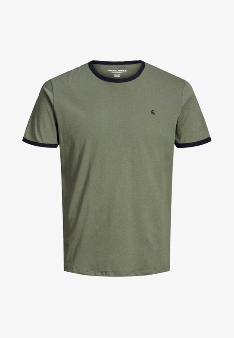 Jack & Jones - KONTRASTDETAIL - T-Shirt print - dusty olive