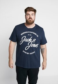 Jack & Jones - JORBASIC TEE 2-PACK PRINT COLOR - Jednoduché triko - forest night packed with total ecli - 2