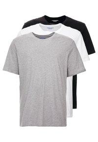 Jack & Jones - JORBASIC TEE CREW NECK 3 PACK - T-shirts - white/black/light grey melange - 0