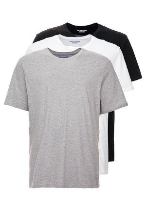 JORBASIC TEE CREW NECK 3 PACK - T-shirt basic - white/black/light grey melange