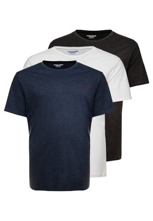 JORBASIC TEE CREW NECK 3-PACK  - T-shirt basic - white/packed with tem