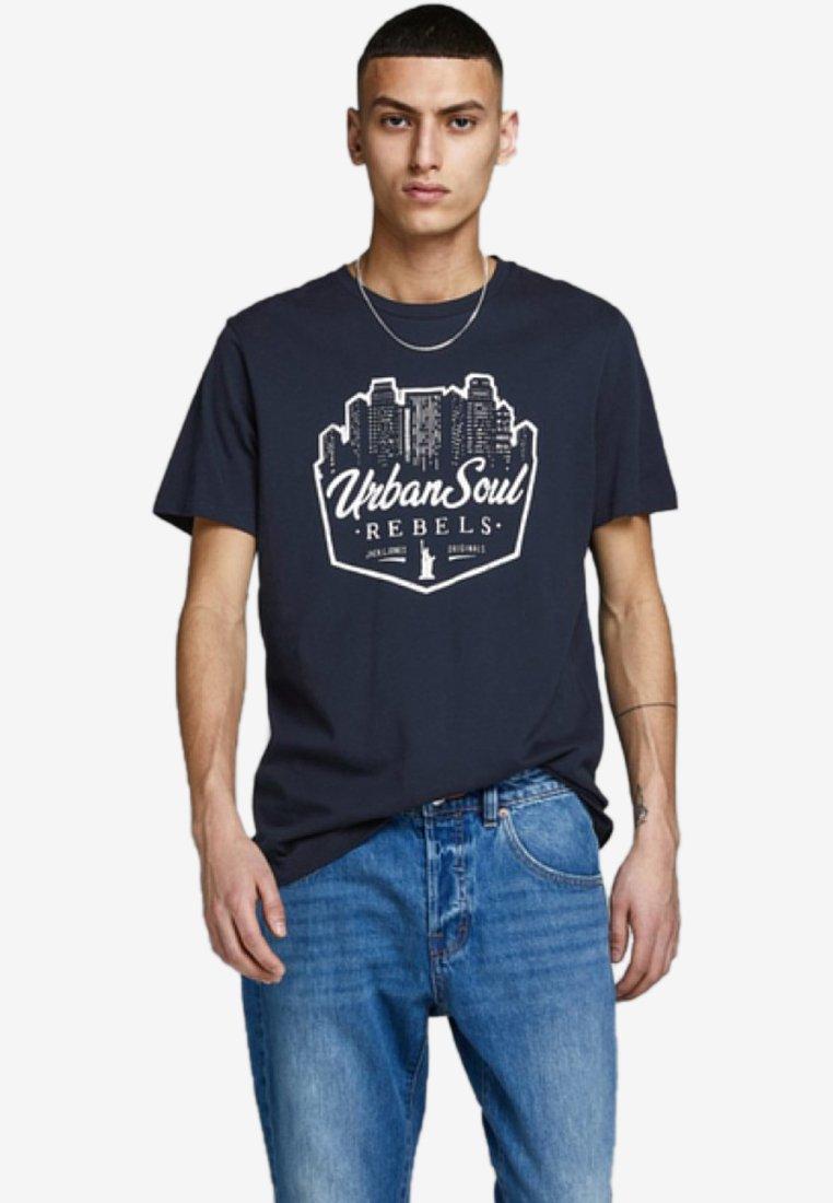 Jack & Jones - URLAUBSPRINT - T-Shirt print - navy