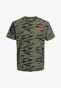 Jack & Jones - Print T-shirt - dusty olive - 5