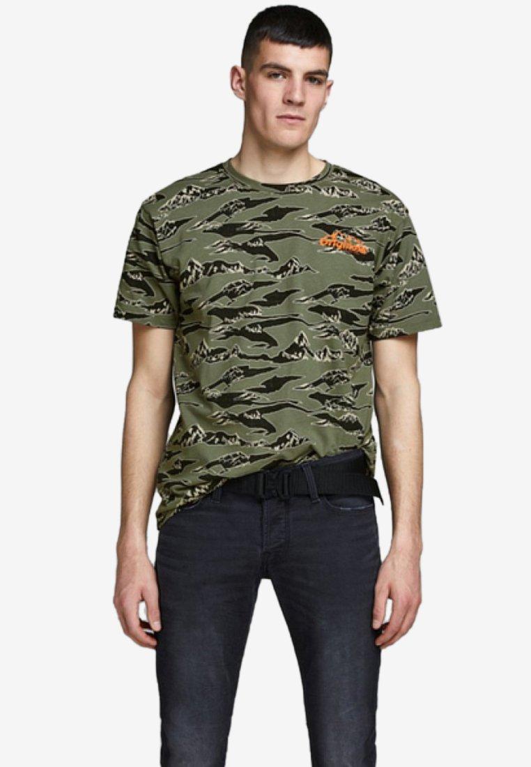 Jack & Jones - Print T-shirt - dusty olive