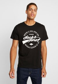 Jack & Jones - JORBASIC TEE 2PACK - T-shirt con stampa - white/ black - 3