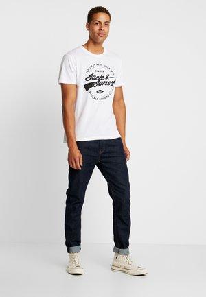 JORBASIC TEE 2PACK - T-shirt print - white/ black