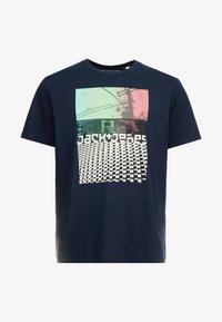 Jack & Jones - JCOANGLE TEE CREW NECK - Print T-shirt - sky captain - 3