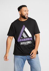 Jack & Jones - JCOHORIN TEE CREW NECK - T-shirts print - black - 0