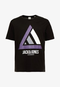 Jack & Jones - JCOHORIN TEE CREW NECK - T-shirts print - black - 4