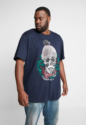 JORKONGO TEE CREW NECK  - T-shirts med print - navy blazer
