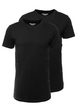 JORBASIC TEE CURVE 2 PACK  - T-shirt - bas -  packed only black