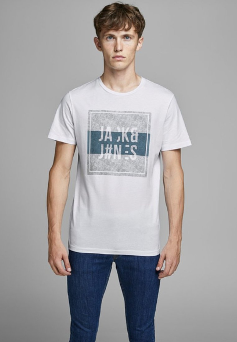 Jack & Jones T-shirt z nadrukiem - white