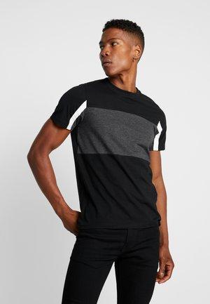 JCOBLOCK TEE - Camiseta estampada - black