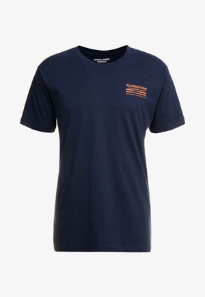 JORMANJARO TEE CREW NECK - T-shirt med print - navy blazer