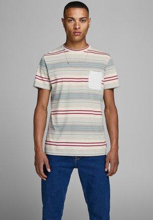 JORCHIL  - T-Shirt print - white melange