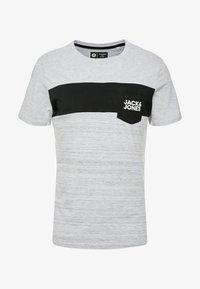 Jack & Jones - JCOSCOOP TEE CREW NECK SLIM - T-Shirt print - light grey melange - 3