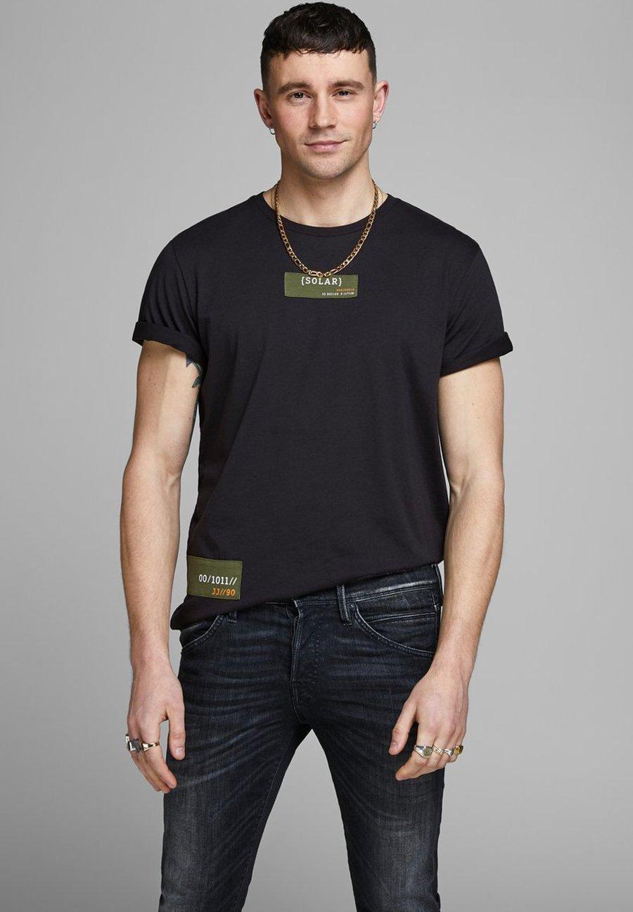 Jack & Jones T-shirt z nadrukiem - black
