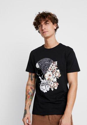 JORQUEEN TEE CREW NECK REGULAR FIT - T-shirt med print - black
