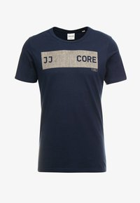 Jack & Jones - JCOSHAWN TEE CREW NECK - T-Shirt print - sky captain - 4