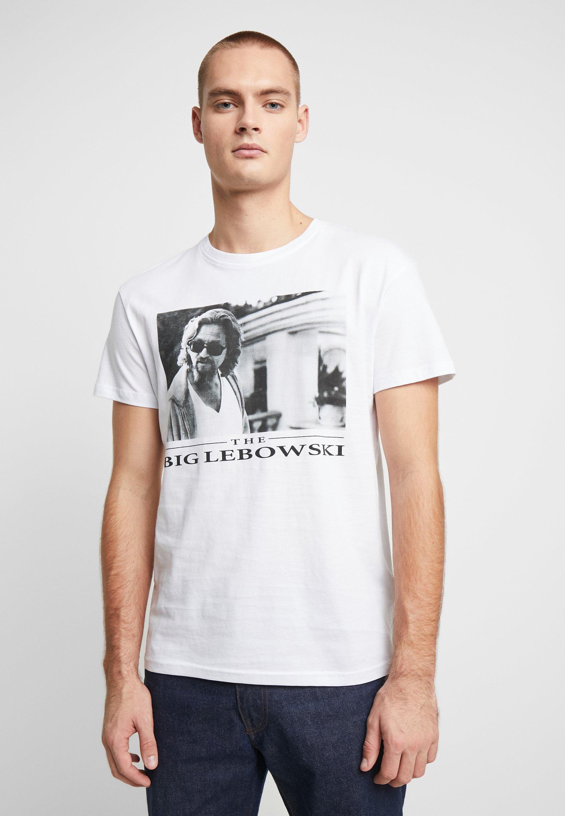 Jack & Jones JORBIGLEBOWSKI TEE CREW NECK - T-shirt z nadrukiem - white