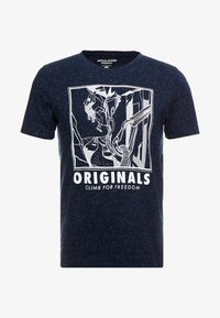 Jack & Jones - JORBRANDON TEE CREW NECK - T-shirt print - navy blazer - 3