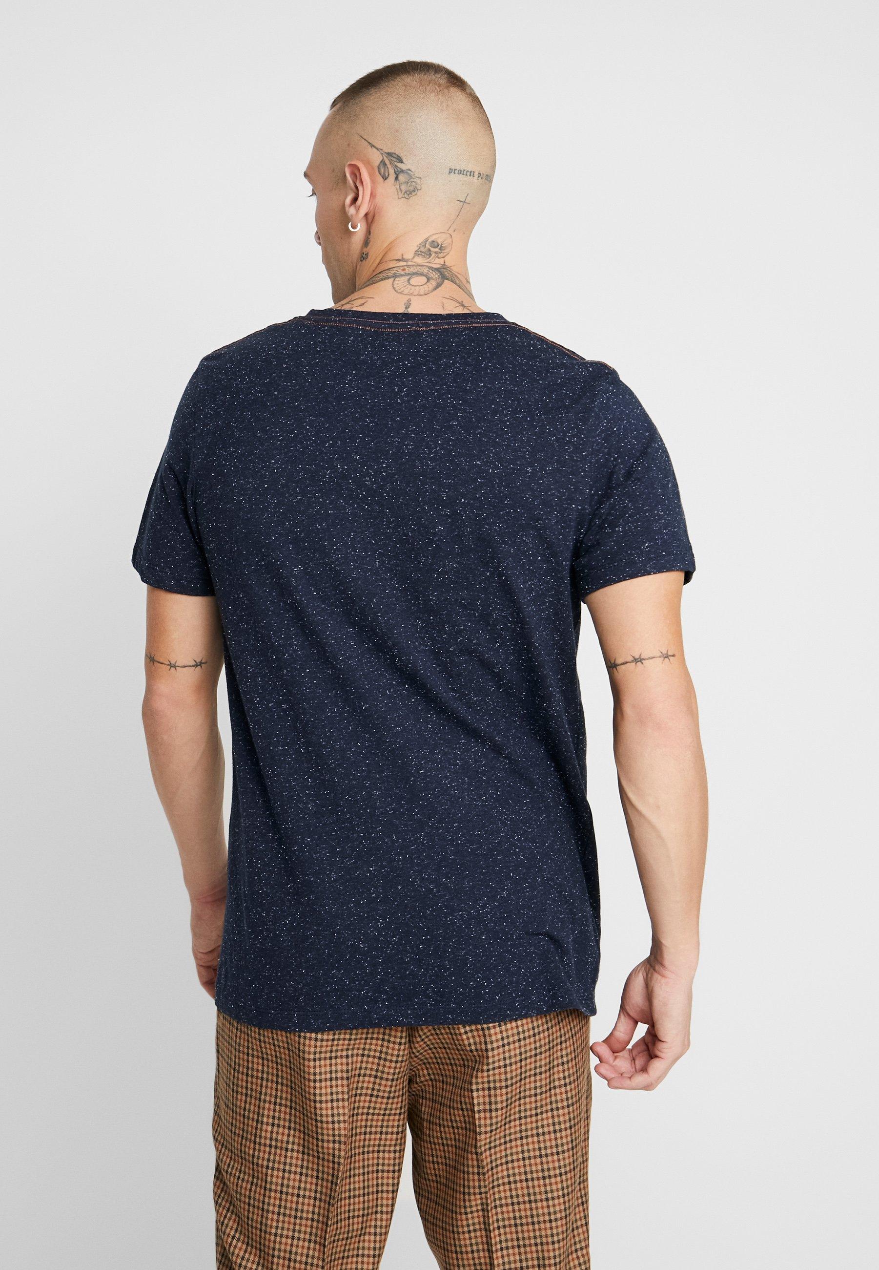Jack & Jones JORBRANDON TEE CREW NECK - T-shirt z nadrukiem - navy blazer