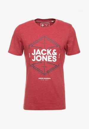 JCOFEBBY TEE SLIM FIT - T-shirt imprimé - rio red