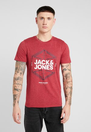 JCOFEBBY TEE SLIM FIT - T-shirt med print - rio red