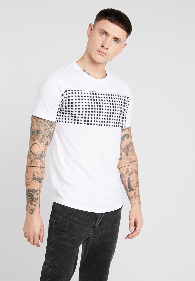 Jack & Jones - JCOHERKULES TEE CREW NECK SLIM FIT - Print T-shirt - white