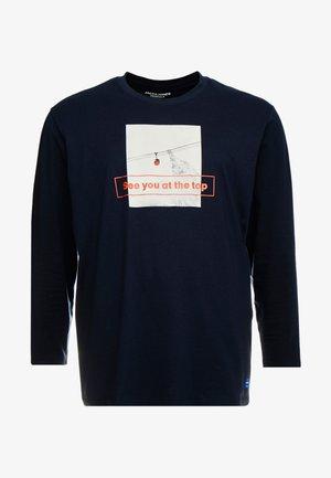 JORGILBERT TEE CREW NECK - Top sdlouhým rukávem - navy blazer