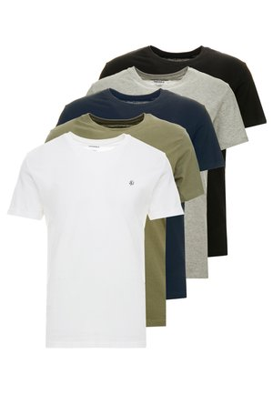 JORBASIC TEE CREW NECK 5 PACK - Jednoduché triko - multi-coloured