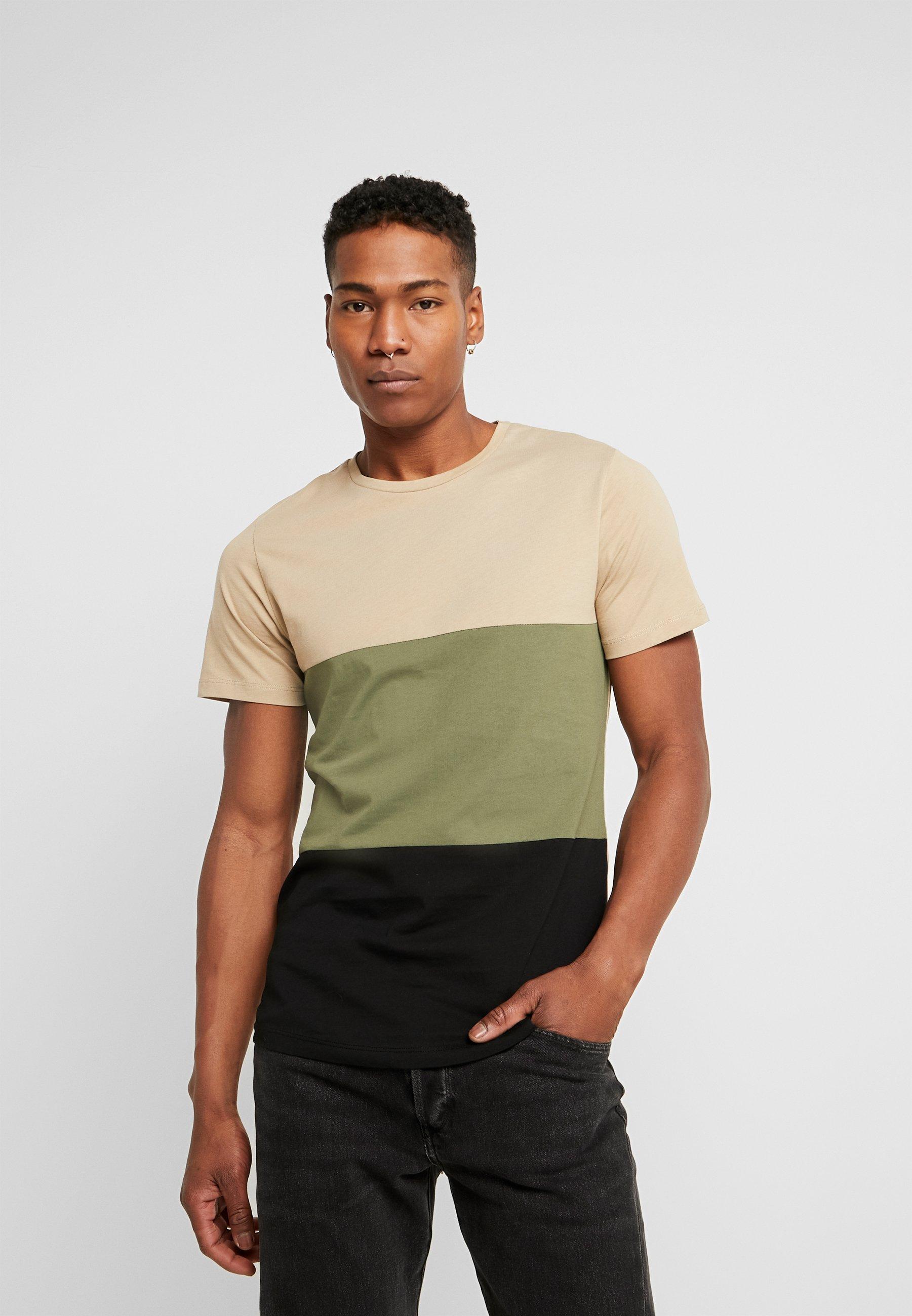 Jack & Jones JCONOAH TEE CREW NECK - T-shirt z nadrukiem - dune