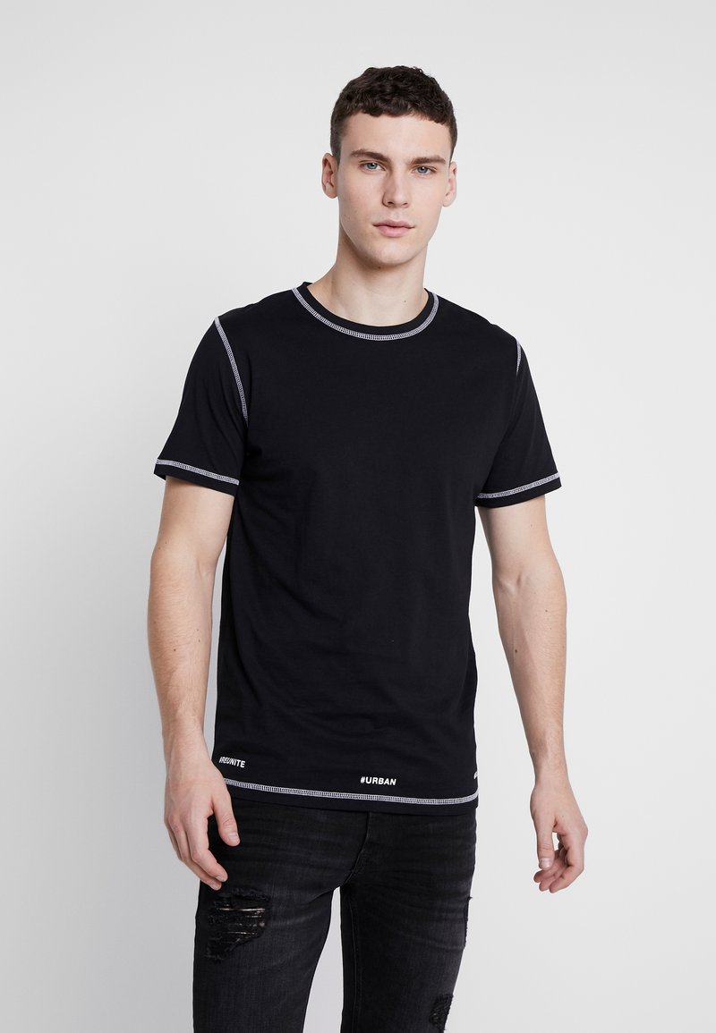 Jack & Jones - JCOBREAK TEE CREW NECK - Triko s potiskem - black