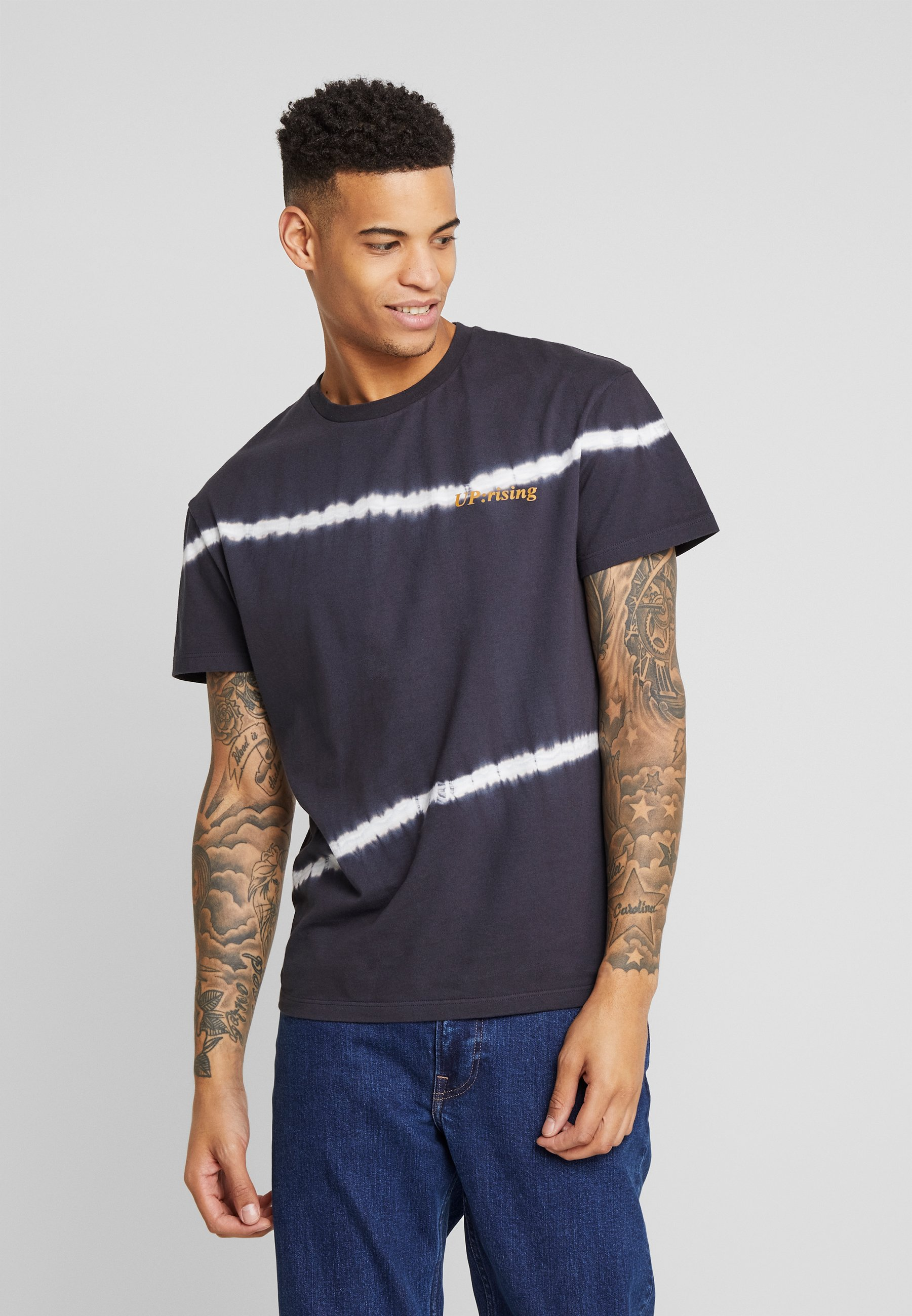 Jack & Jones JORCANDID TEE CREW NECK  - T-shirt z nadrukiem - black