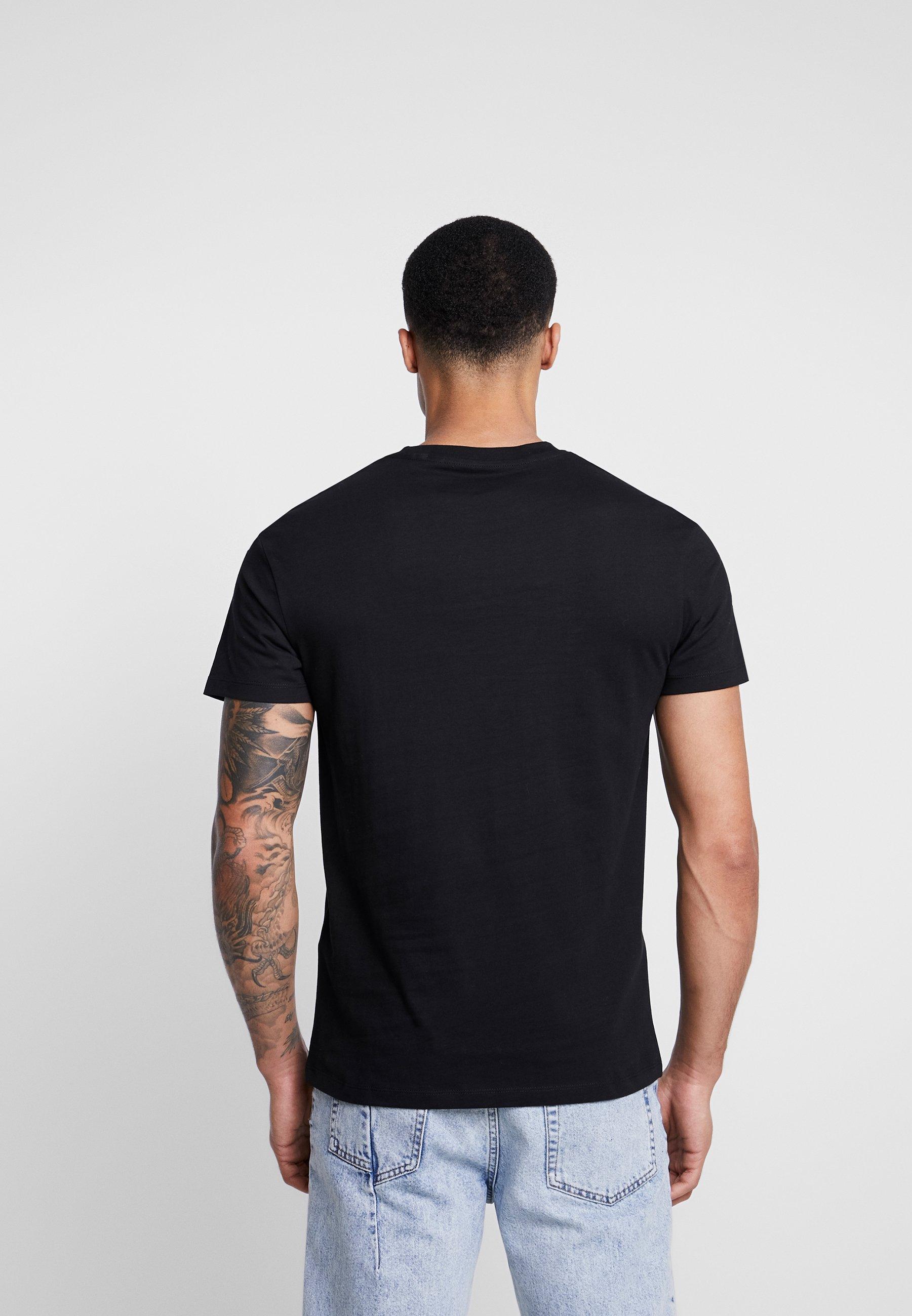 Jack & Jones JCOBEB TEE CREW NECK - T-shirt z nadrukiem - black