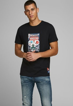 AVENGERS - T-shirt med print - black