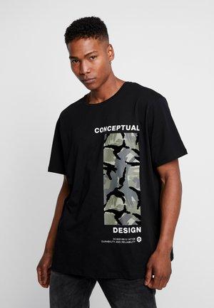 JCOCONCEPT TEE CREW NECK  - Print T-shirt - black