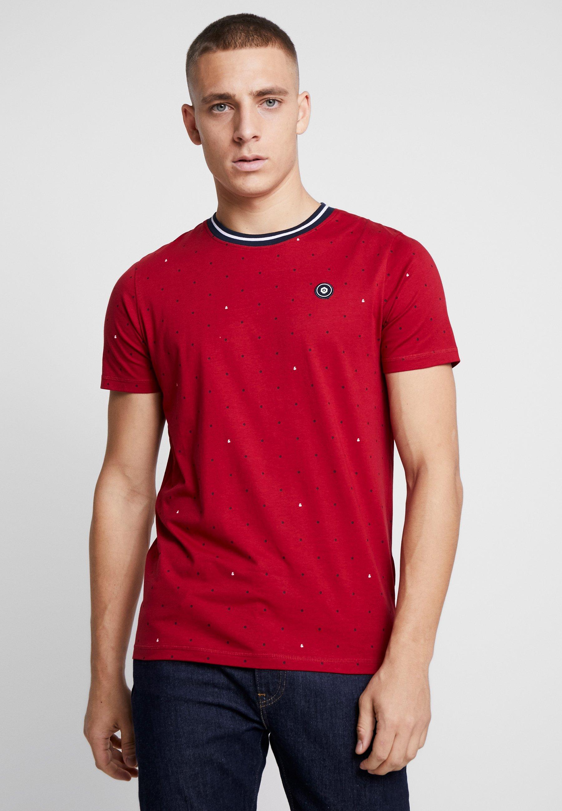 Jack & Jones JCOAOP TEE - T-shirt z nadrukiem - rio red