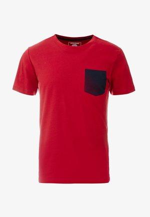 JCOPHOTO TEE  CREW NECK - T-shirt med print - rio red