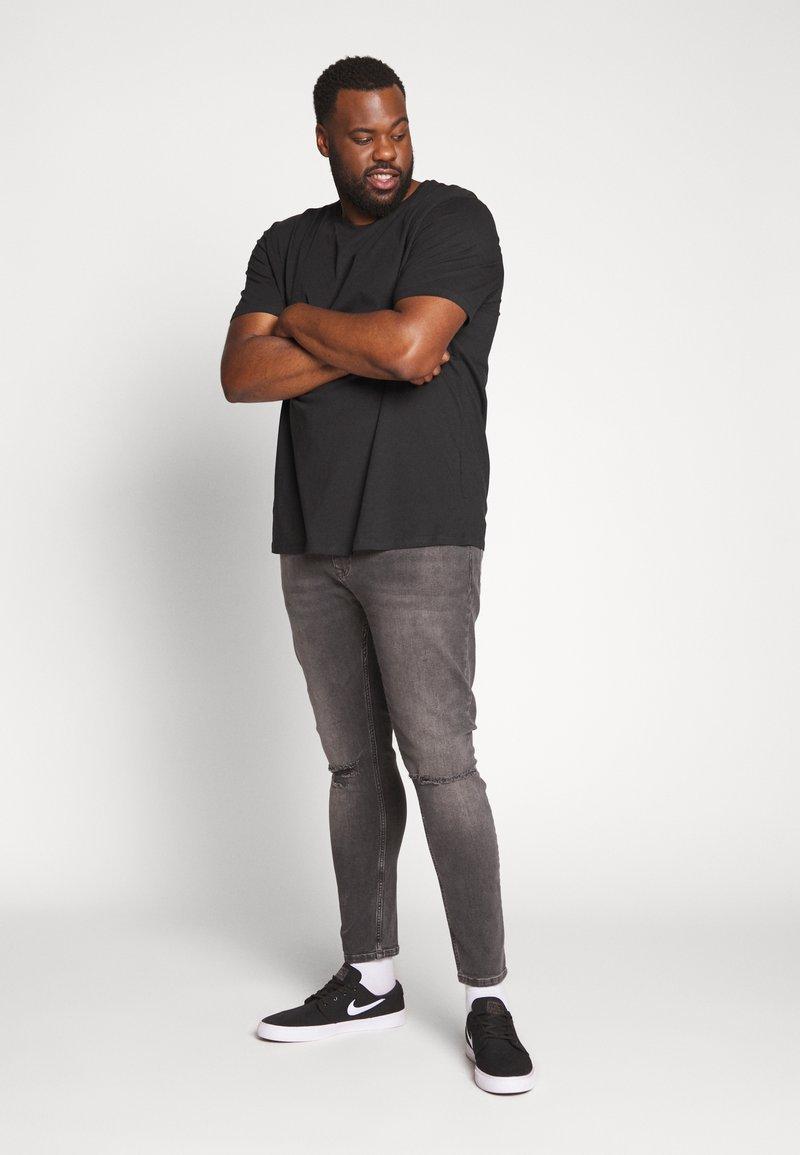 Jack & Jones JORPLAYBOY TEE CREW NECK - T-shirts med print - black